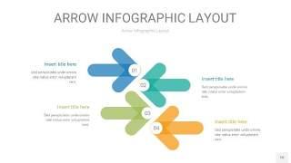 黄蓝绿箭头PPT信息图表10