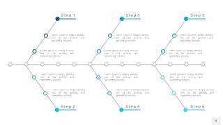 宝石蓝鱼骨PPT信息图表8