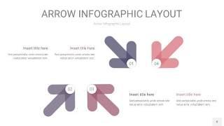 中紫色箭头PPT信息图表8