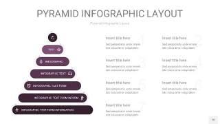 深紫色3D金字塔PPT信息图表10