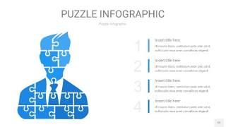 天蓝色拼图PPT图表12