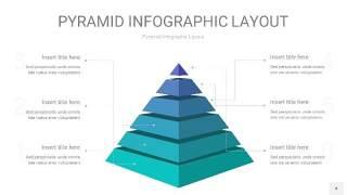 天蓝绿3D金字塔PPT信息图表4