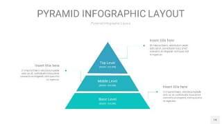 天蓝绿3D金字塔PPT信息图表14