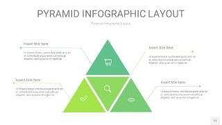 浅绿色3D金字塔PPT信息图表13