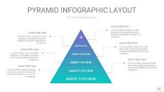 天蓝绿3D金字塔PPT信息图表20