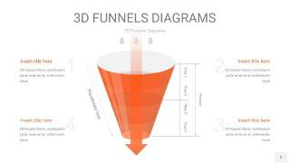 橘红色3D漏斗PPT信息图表9