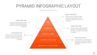 橘红色3D金字塔PPT信息图表19