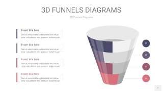 中紫色3D漏斗PPT信息图表7