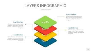 四色3D分层PPT信息图27