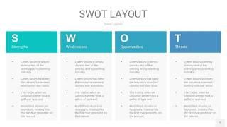 宝石绿SWOT图表PPT7