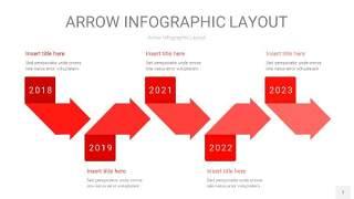 红色箭头PPT信息图表7