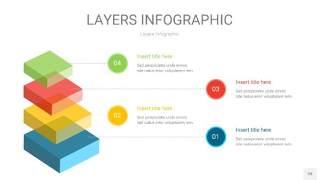 四色3D分层PPT信息图28
