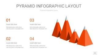 橘红色3D金字塔PPT信息图表23