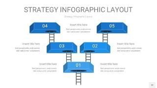 蓝色战略计划统筹PPT信息图30