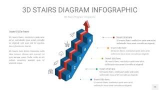 3D阶梯PPT图表26