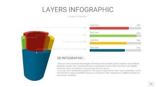 四色3D分层PPT信息图53