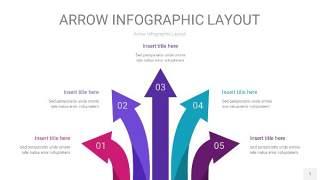 紫色系箭头PPT信息图表1