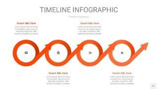 橘红色时间轴PPT信息图19