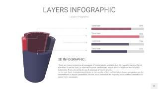 莫兰迪紫色3D分层PPT信息图53