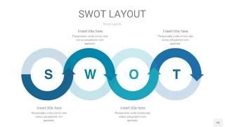 铁蓝色SWOT图表PPT20