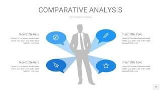 天蓝色用户人群分析PPT图表13