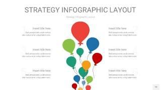四色战略计划统筹PPT信息图10