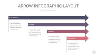 中紫色箭头PPT信息图表12