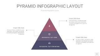 中紫色3D金字塔PPT信息图表17