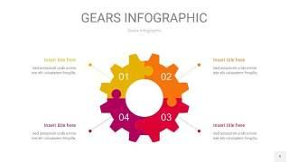 多色齿轮PPT信息图9