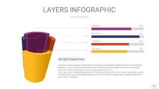 彩色3D分层PPT信息图53
