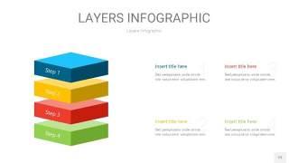 四色3D分层PPT信息图23
