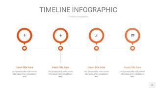 橘红色时间轴PPT信息图14