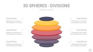 紫黄色3D球体切割PPT信息图10