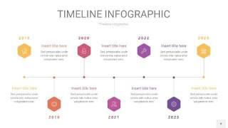 紫黄色时间轴PPT信息图4