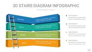 3D阶梯PPT图表30