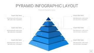 浅蓝色3D金字塔PPT信息图表4