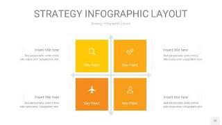 黄色战略计划统筹PPT信息图15