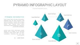 天蓝绿3D金字塔PPT信息图表24