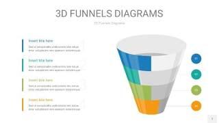 彩色3D漏斗PPT信息图表7