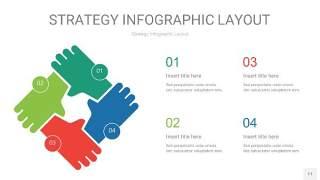 四色战略计划统筹PPT信息图11
