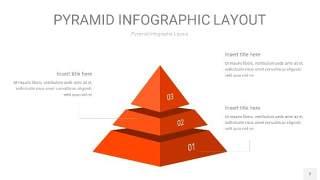 橘红色3D金字塔PPT信息图表2