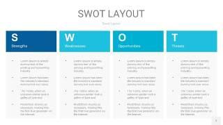 宝石蓝SWOT图表PPT7
