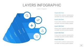 蓝色3D分层PPT信息图32