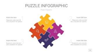 多彩拼图PPT图表4