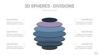 莫兰迪蓝色3D球体切割PPT信息图10
