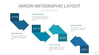 天蓝绿箭头PPT信息图表6