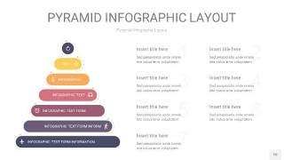 中紫色3D金字塔PPT信息图表10
