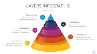 彩色3D分层PPT信息图10