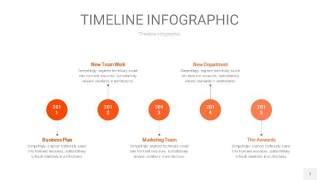 橘红色时间轴PPT信息图7