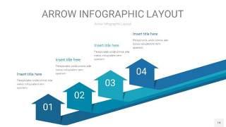 天蓝绿箭头PPT信息图表14